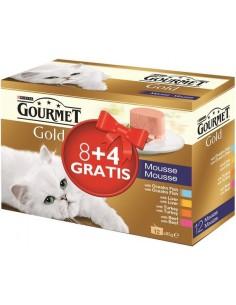 Purina Gourmet Gold Adult Pack Mousse Mix 12 x 85 gr (4 sabors). 7613036080354