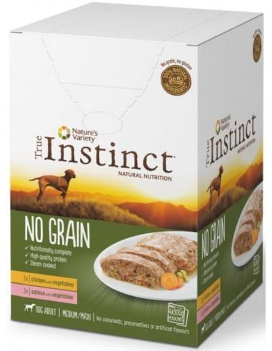 True Instinct No Grain Adult Medium/Maxi Mix Pack Salmó i Pollastre 4 x 300 gr 8410650248608