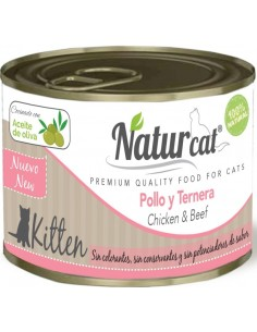 Natur Cat Kitten Pollo y Ternera 200 gr 606110285544