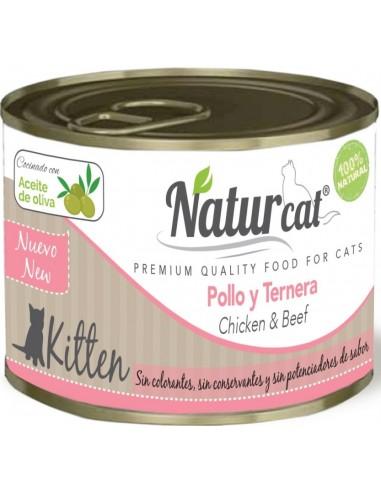 Natur Cat Kitten Pollastre i Vedella 200 gr 606110285544