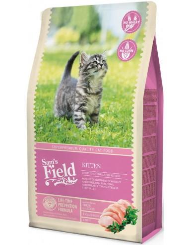 Sam's Field Kitten Pollastre i Arròs 7,5 Kg. 8595602512003