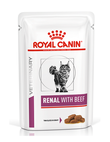 Royal Canin Veterinary Diet Cat Renal with Beef Gravy 85 gr 9003579000489