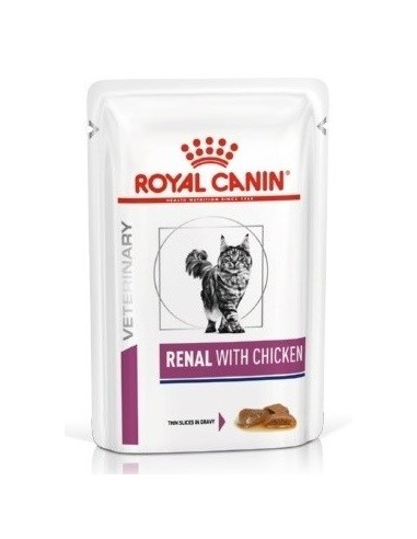 Royal Canin Veterinary Diet Cat Renal with Chicken Gravy 85 gr 9003579000458