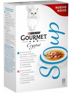 Purina Gourmet Crystal Soup Adult Tonyina 4x40 gr 7613035856950