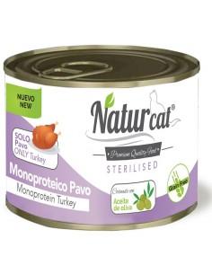 Natur Cat Sterilised Adult Monoproteïc Gall Dindi Grain Free 200 gr 606110285543