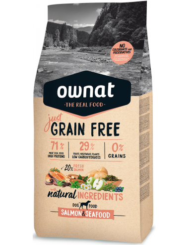 Ownat Just Grain Free Adult Salmó i Marisc 14 kg 8429037016914