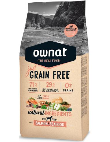 Ownat Just Grain Free Adult Salmón y Marisco 14 kg 8429037016921