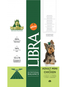 Libra Dog Adult Mini 3 kg. Pinso Gossos Adults Races Mini i Petites Dieta Normal Pollastre 8410650170411