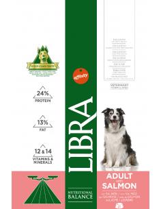 Libra Dog Adult 3 kg. Pienso Perros Adultos Todas las Razas Dieta Normal Salmón 8410650216638