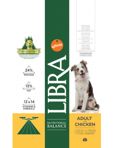 Libra Dog Adult 3 kg.  Pinso Gossos  Adults  Totes les Races  Dieta Normal Pollastre 8410650170312