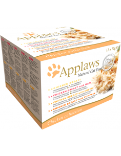 Applaws Adult Multipack Pollastre 70 gr x 12. 5060333437374